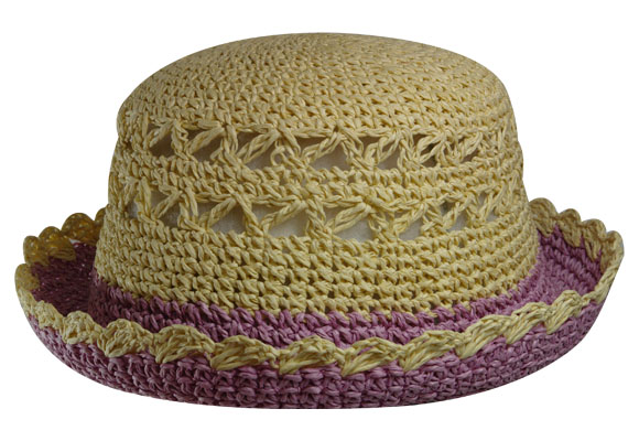 Sombrero crochet ala color