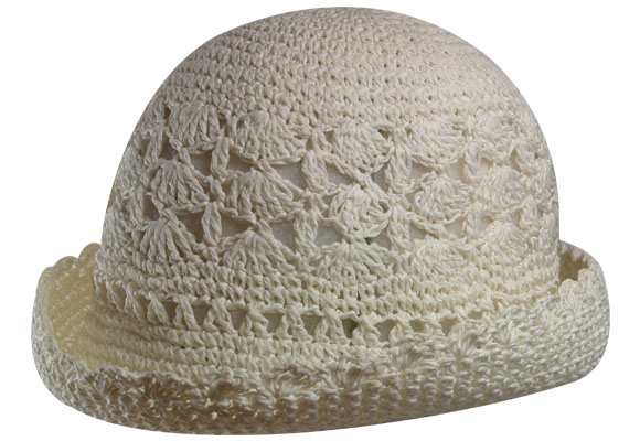 Sombrero Crochet Wing up Calado
